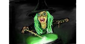 Drawing of Witch by Soaring Sunshine