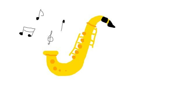 Saxophone drawing by Mary