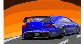Car drawing by Sam