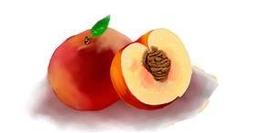 Drawing of Peach by Ryu