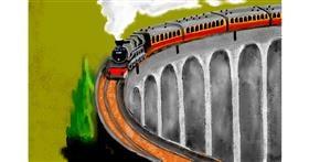 Train drawing by SAM AKA MARGARET 🙄