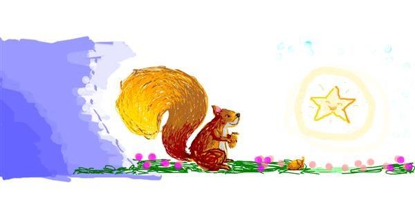Squirrel drawing by 7y3e1l1l0o§