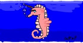 Seahorse drawing by Astha