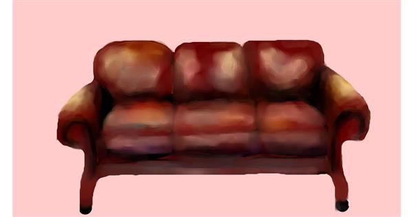 Couch drawing by Sirak Fish