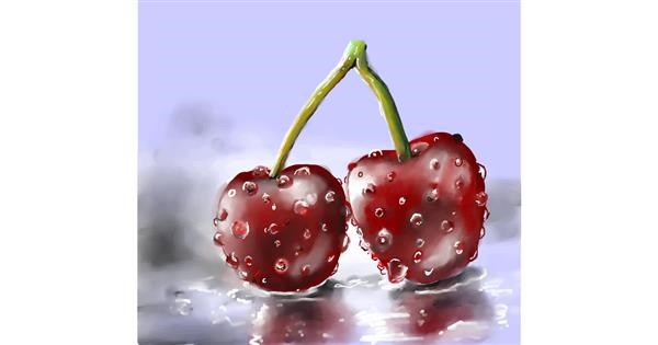 cherry drawing by Leah