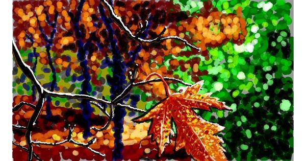 Leaf drawing by Sam