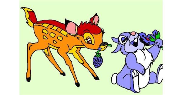 Deer drawing by InessaC