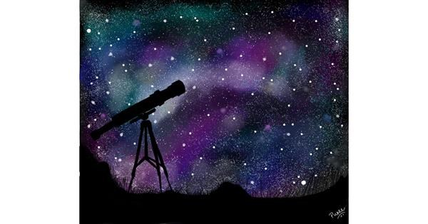 Telescope drawing by punee