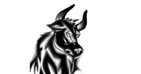 Bull drawing by Shivam