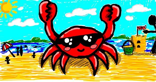 Crab drawing by Meowki