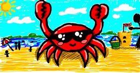 Crab drawing by Meowki