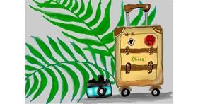 Suitcase drawing by Debidolittle