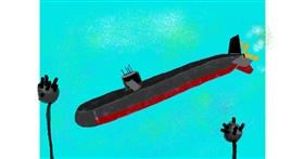 Submarine drawing by Vicki