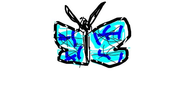 Butterfly drawing by Derp
