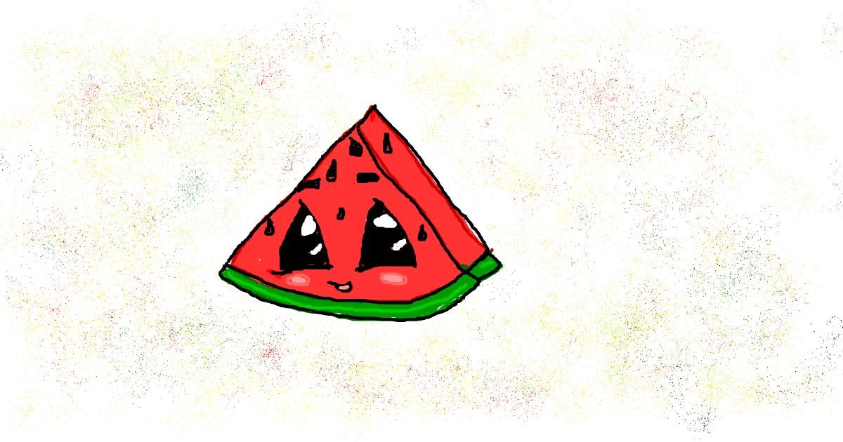 Watermelon drawing by Astha
