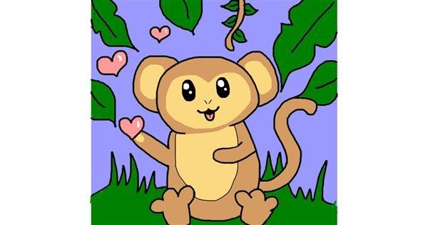 Monkey drawing by AdiCat