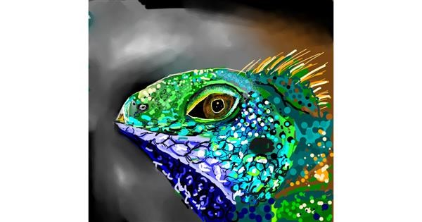 Lizard drawing by Elliev