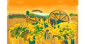 Cannon drawing by GJP
