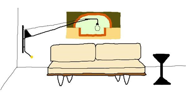 Couch drawing by Sorya