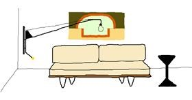 Drawing of Couch by Sorya