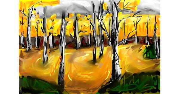 Tree drawing by Soaring Sunshine