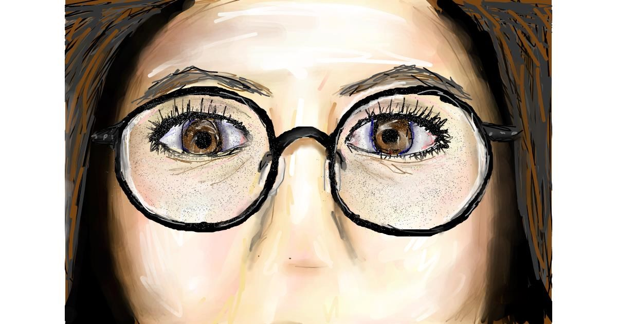 Drawing of Glasses by Soaring Sunshine