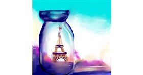 Eiffel Tower drawing by Rose rocket