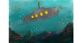 Submarine drawing by citrus