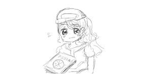 Pizza drawing by Ariicream