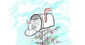 Mailbox drawing by Kiwi
