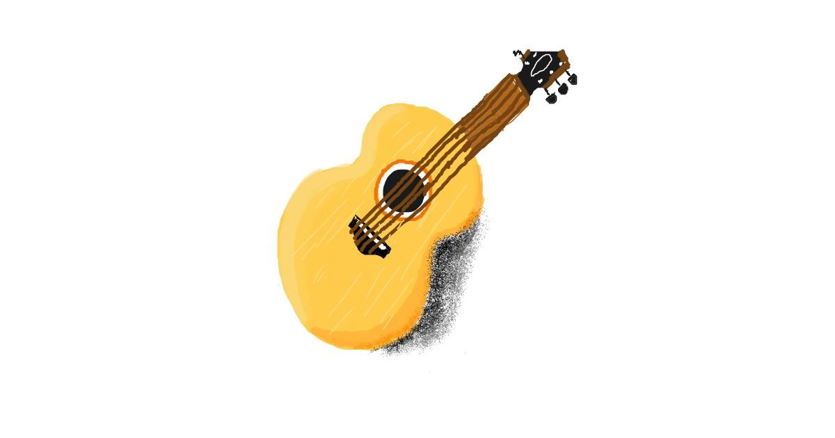 Guitar drawing by coconut