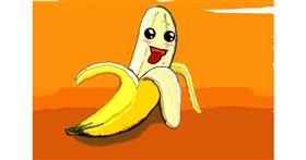Banana drawing by MRPANDA2