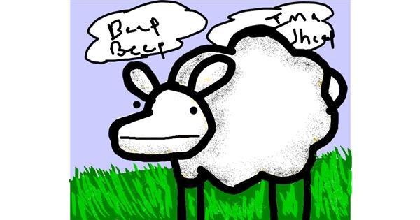Sheep drawing by Data