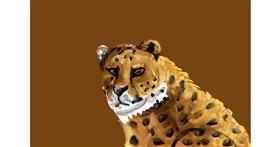 Cheetah drawing by Soaring Sunshine