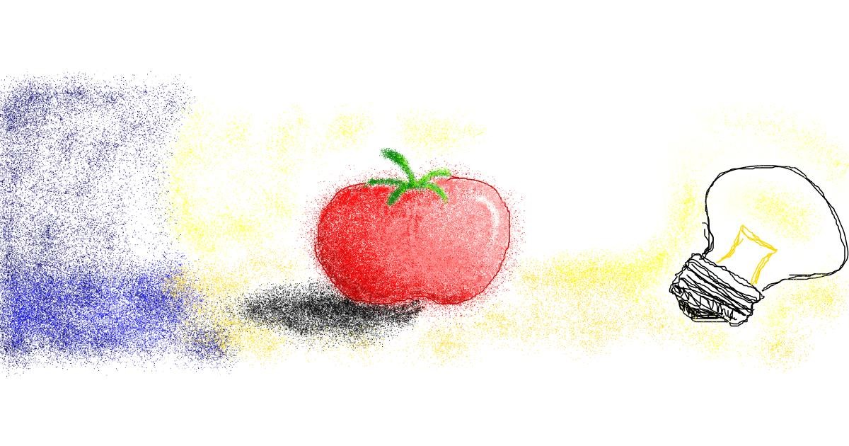 Tomato drawing by 7y3e1l1l0o§