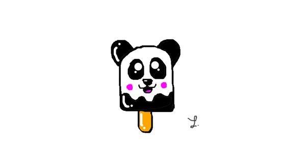 Panda drawing by Laura