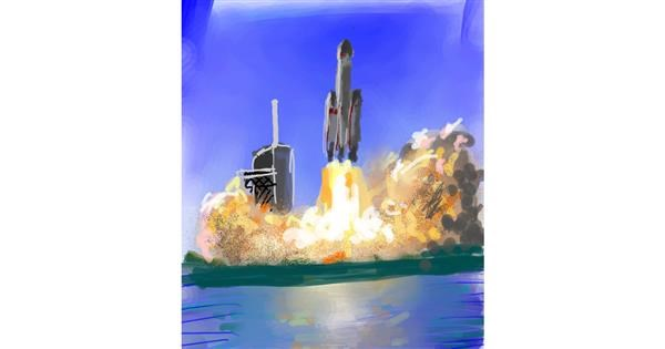 Rocket drawing by Muni
