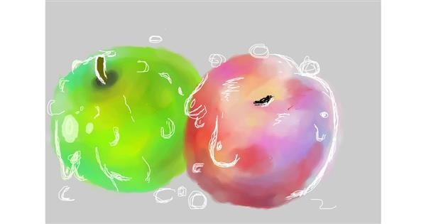 Apple drawing by 𝐓𝐎𝐏𝑅𝑂𝐴𝐶𝐻™