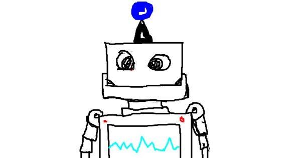 Robot drawing by ProGodMan