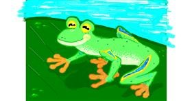 Frog drawing by Chicken