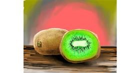 Kiwi fruit drawing by Bro 2.0😎