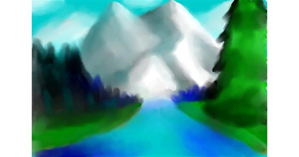 Mountain drawing by ⪧Maya⪦