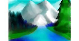 Drawing of Mountain by ∽Maia∽