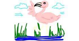 Flamingo drawing by Jojo