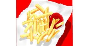 Drawing of French fries by GJP