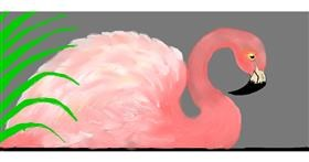 Flamingo drawing by Debidolittle