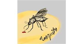 Drawing of Mosquito by Jinx