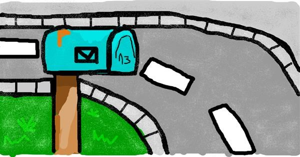 Mailbox drawing by Balkanski UČIHA