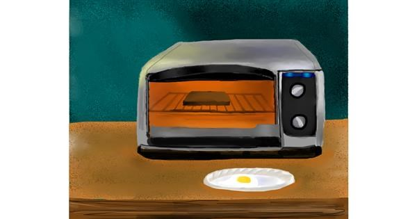 Microwave drawing by Mitzi