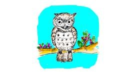 Owl drawing by Lsk